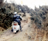 Dave Cooke playing in the devils punch bowl gunners vespa club59