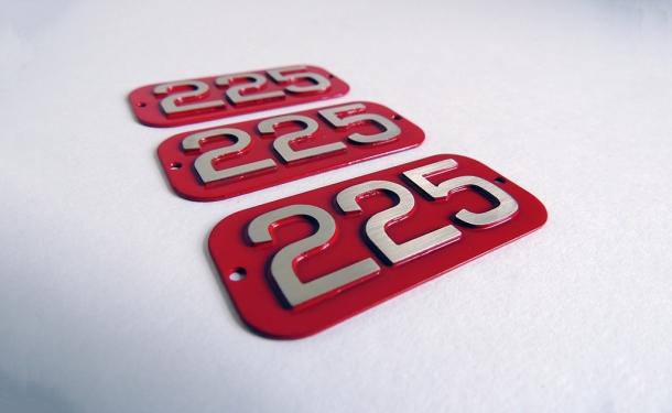 225 AF 'S' Type Badges