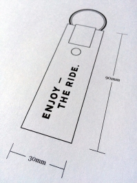 ETR Key Fob Logo Placement Drawing