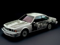 1986 BMW 635 CSi Art Car by Robert Rauschenberg